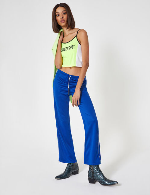 Blue wide-leg joggers