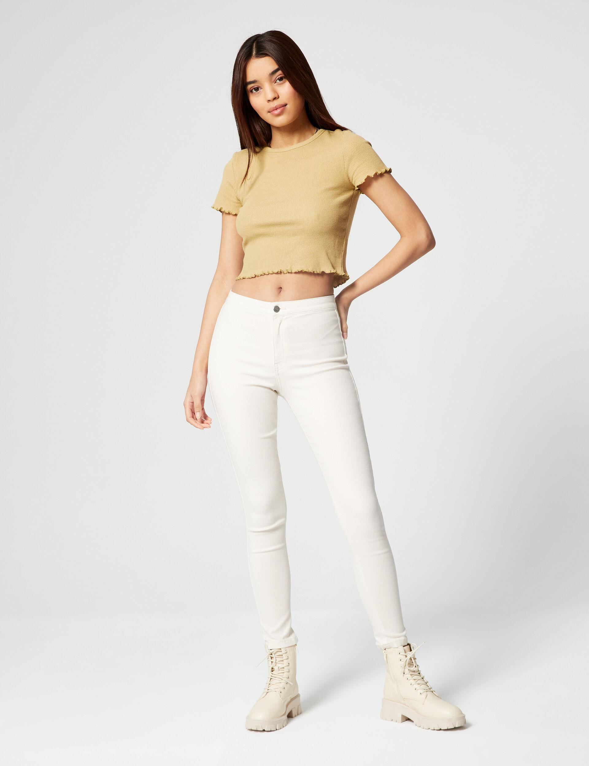 Tee-shirt côtelé gaufré