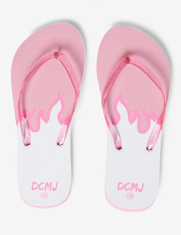 Flame beach flip flops