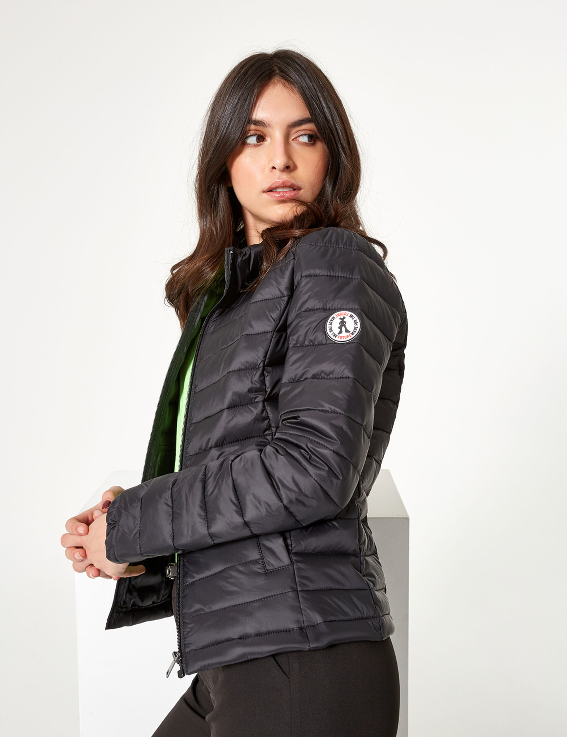 Black lightweight padded jacket
