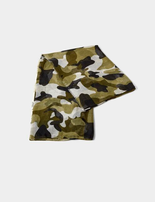 foulard camouflage kaki