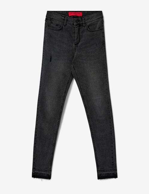 Faded black super skinny jeans