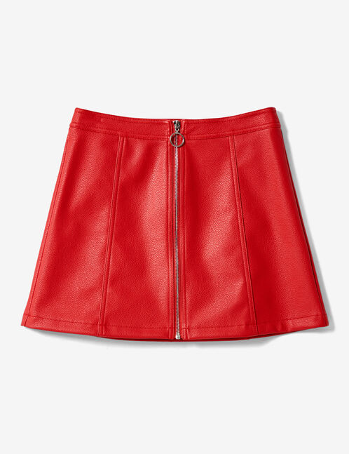 Red zipped skirt