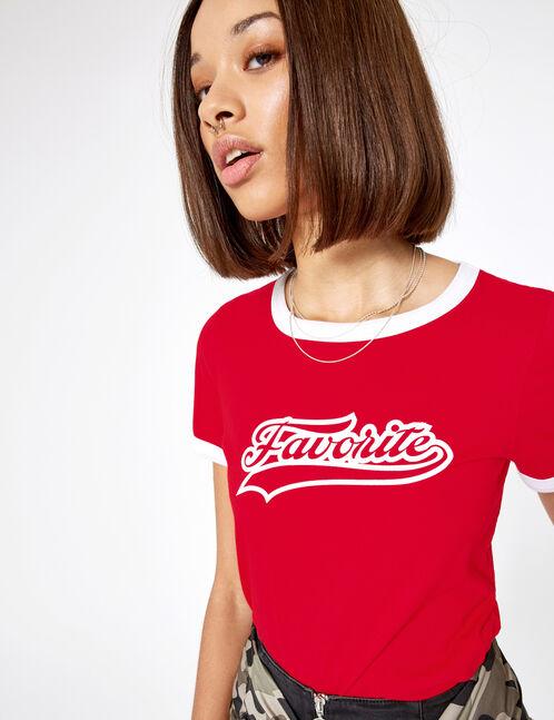 tee-shirt favorite rouge