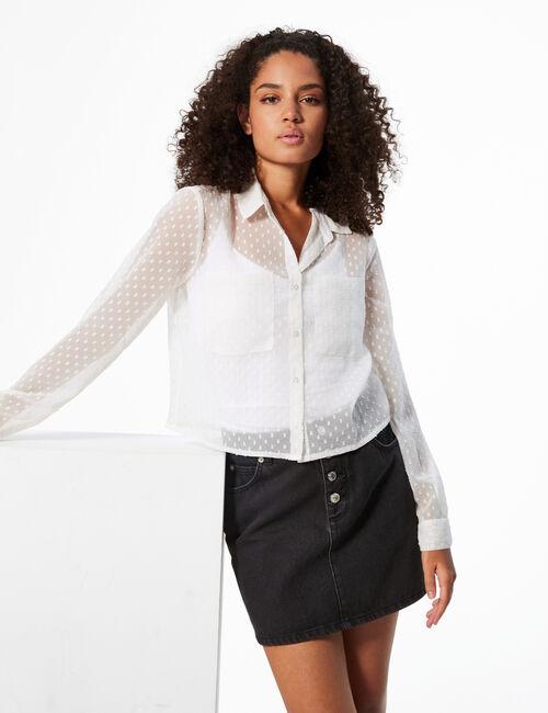 Dotted Swiss shirt