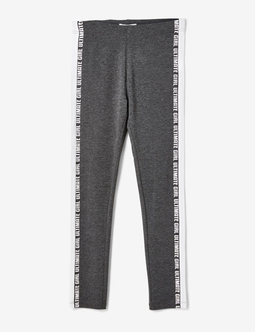Charcoal grey marl leggings