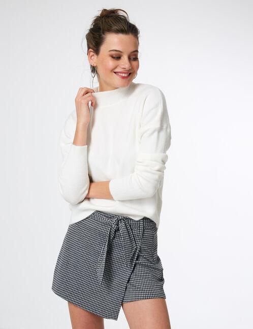 Cream cashmere-feel jumper