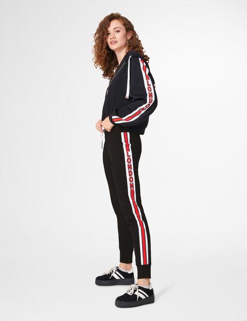 "Black slim-fit ""London"" joggers"