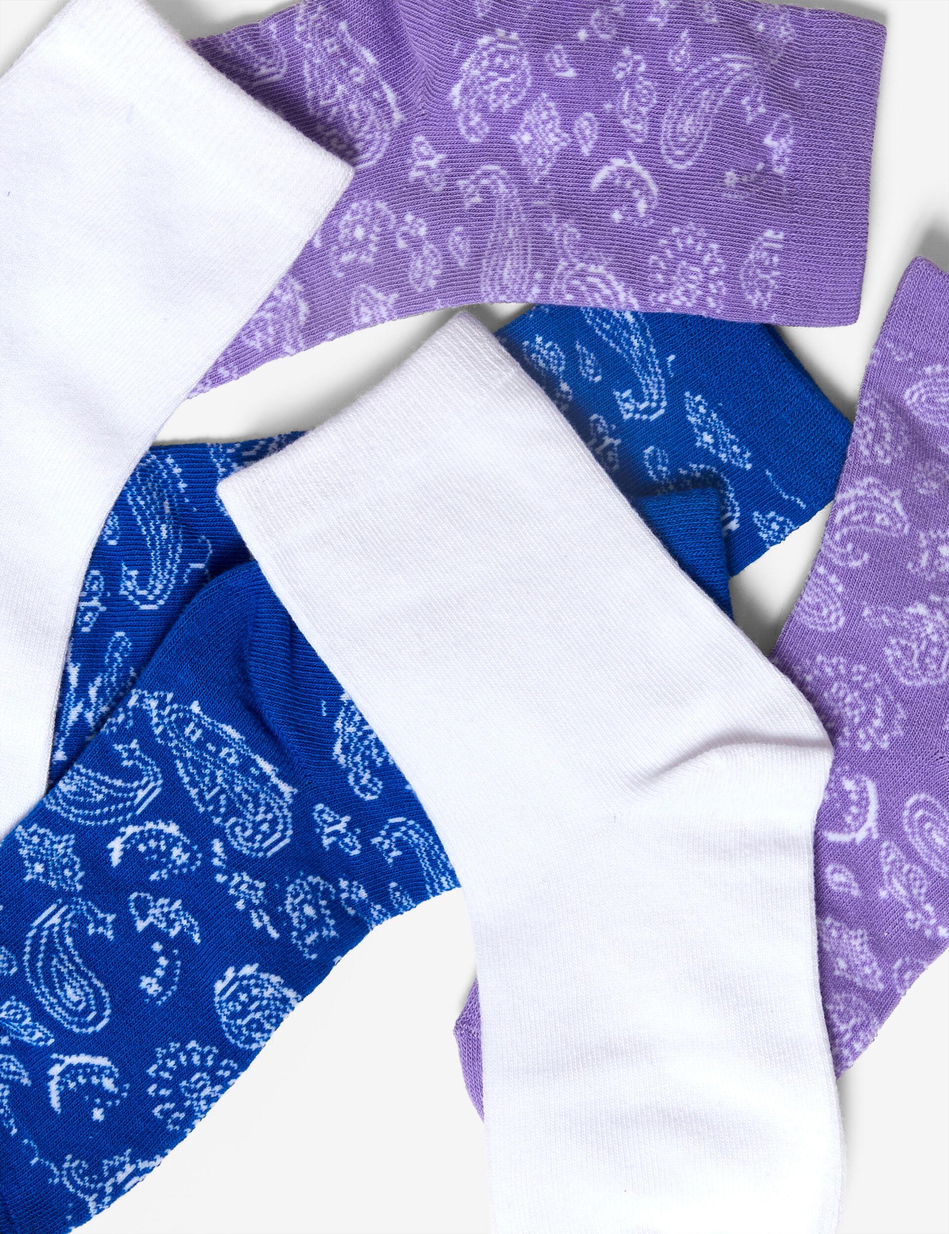 Chaussettes motif cachemire