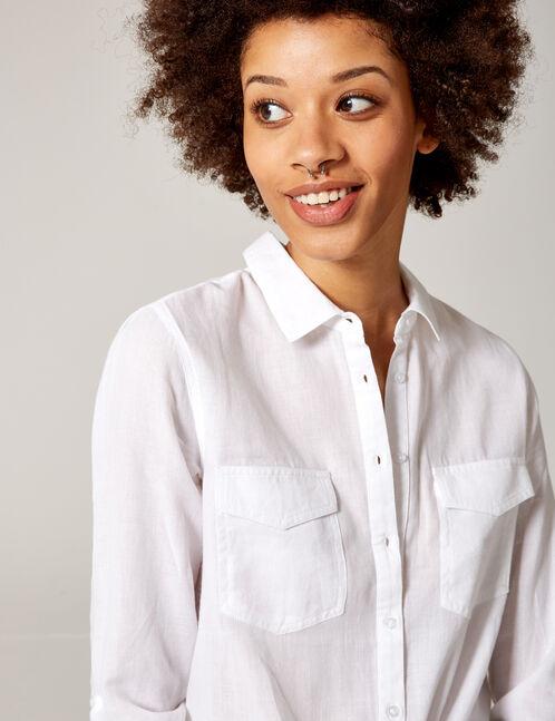 chemise à nouer écrue