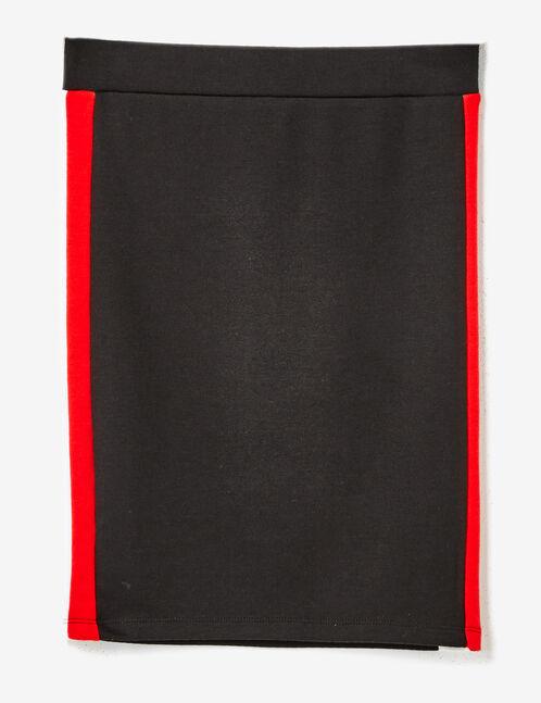 jupe bandes côtés noire