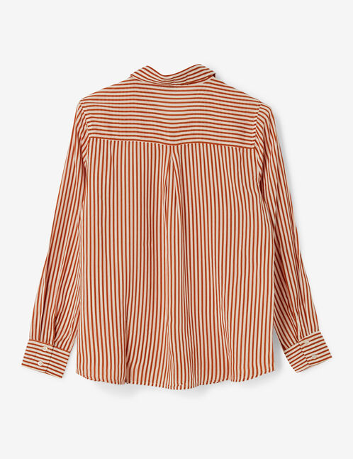 Orange and white striped shirt
