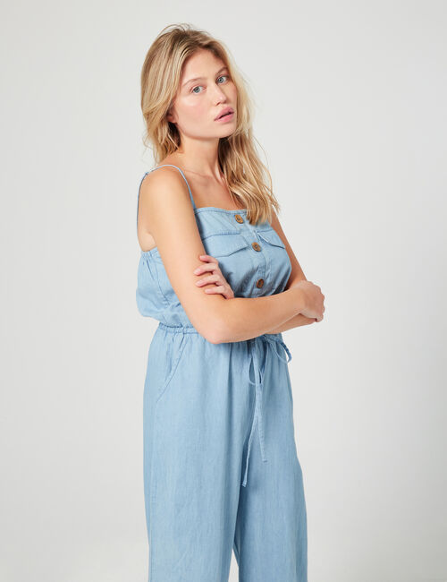 Denim look jumpsuit