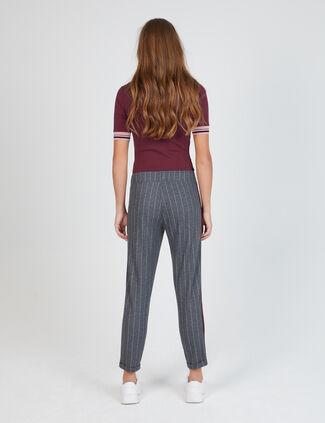 pantalon avec bandes rayées gris pantalon avec bandes rayées gris ca17a9db2227