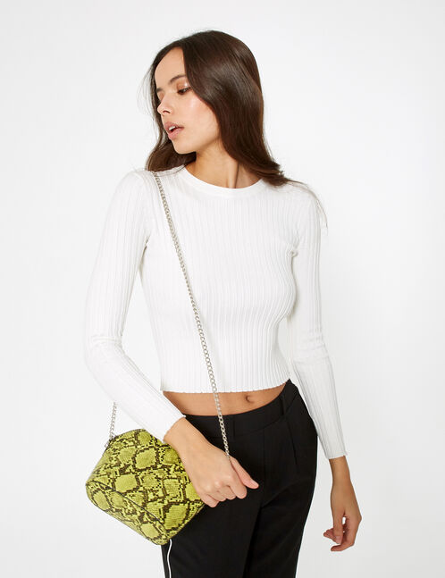 Cream ribbed jumper