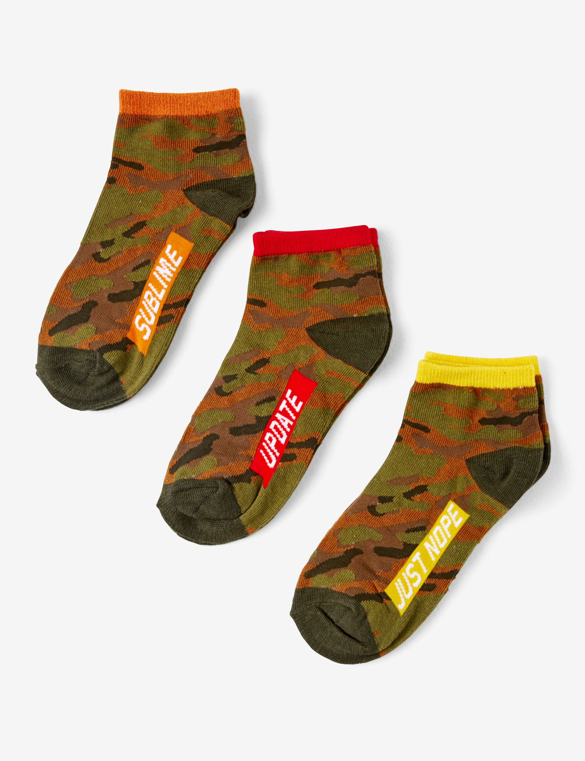 Camouflage pattern socks
