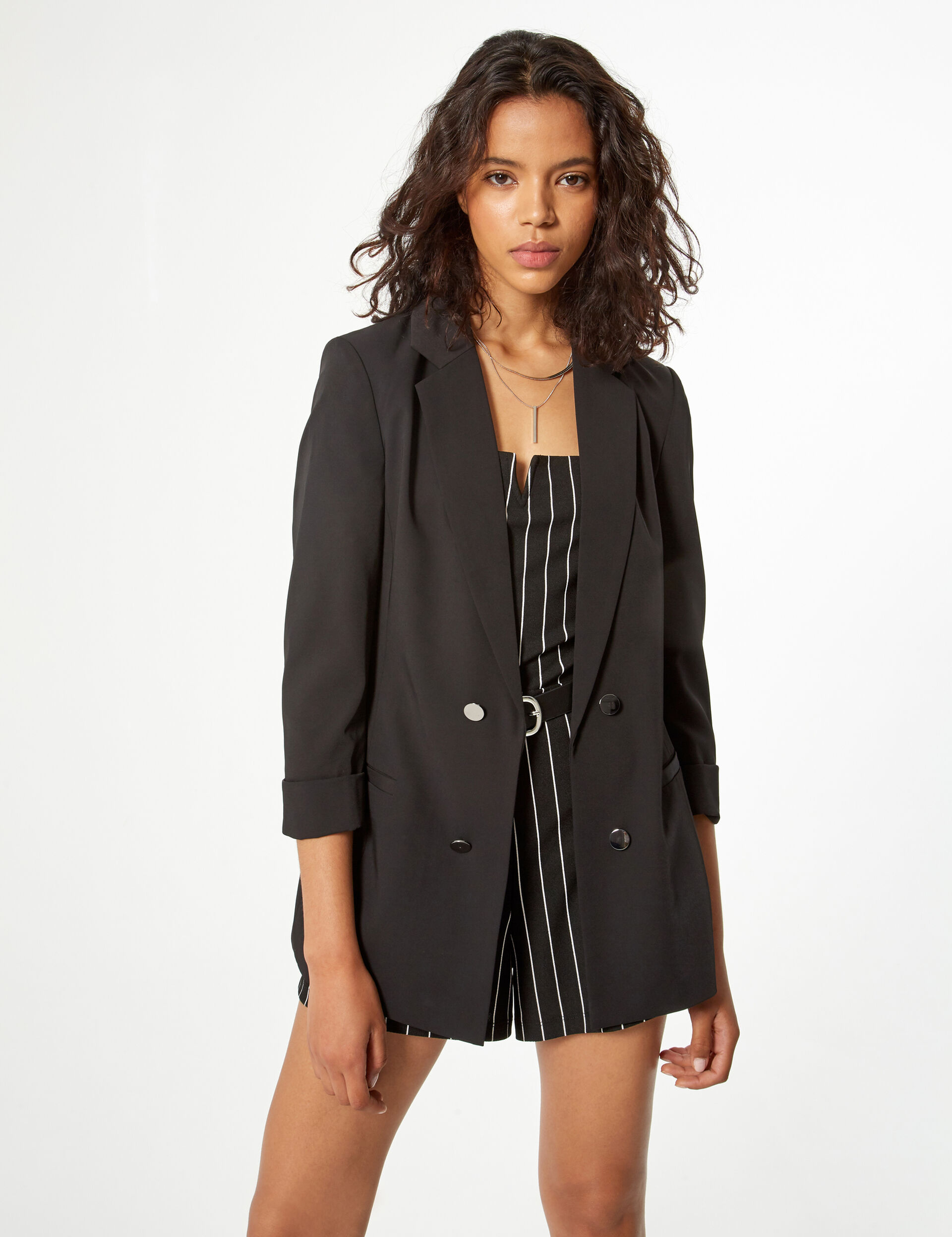 Blazer long manches 3/4