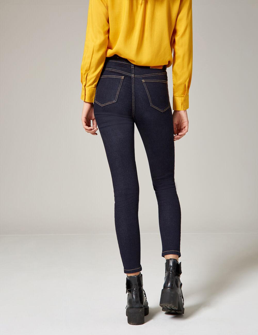 Jeans Américain Rag Bleu Charlie Lavage Déchiré Jeans Moulant 3