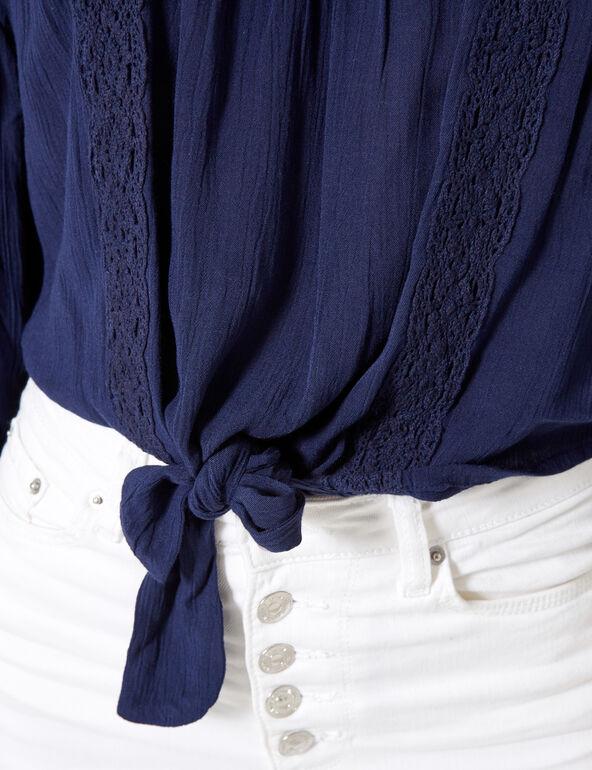 Blouse épaules dénudées bleu