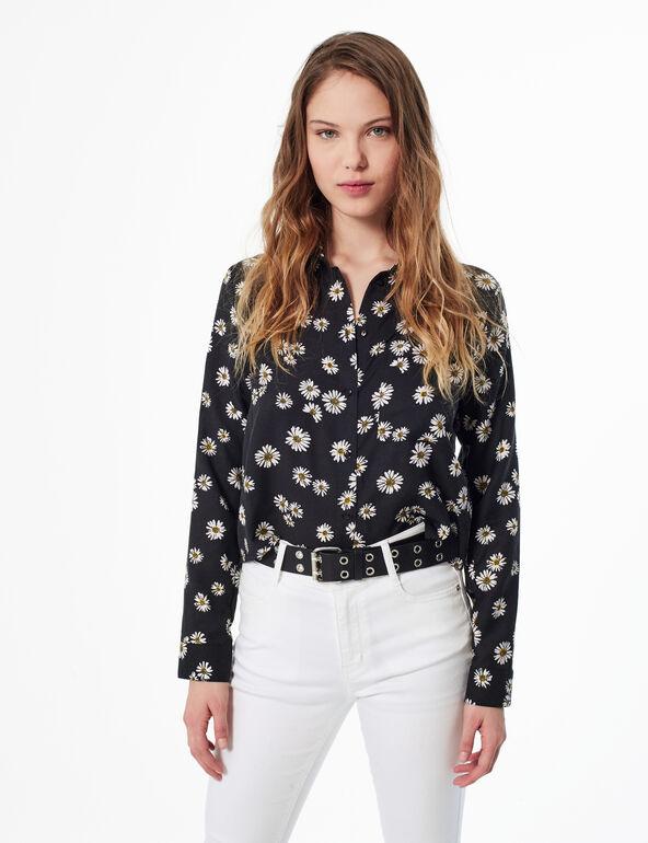 Chemise avec imprimé fleurie