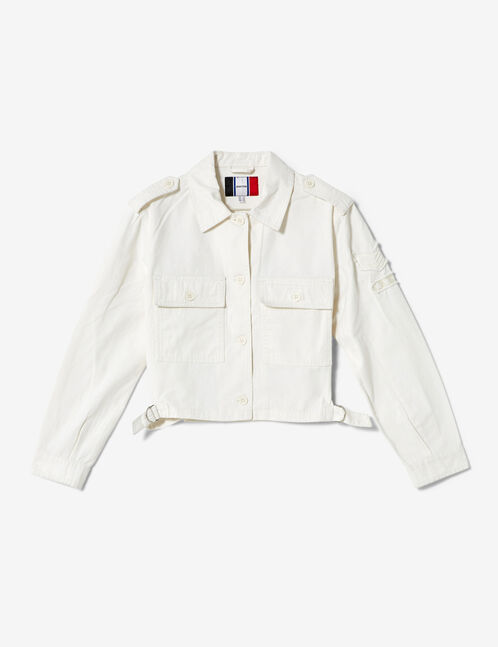 veste courte esprit army blanche