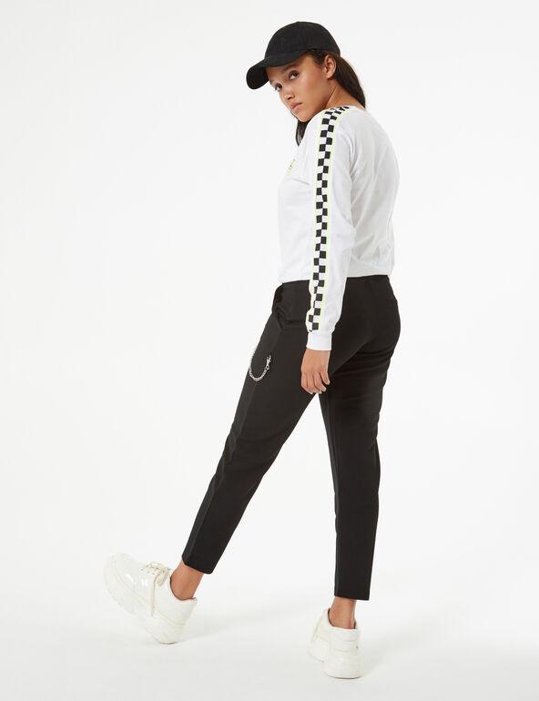 Pantalon fluide avec chaîne