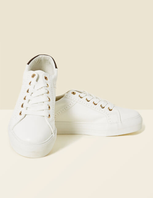 baskets compensées blanches