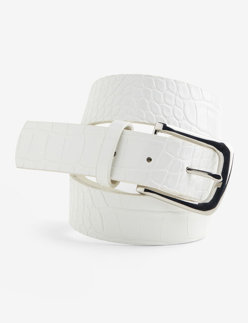 Faux python skin belt