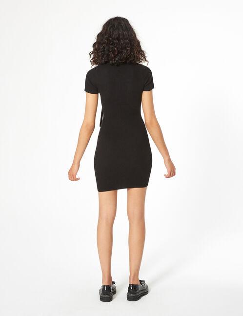 rib-knit bandeau dress