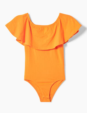 body avec volant orange