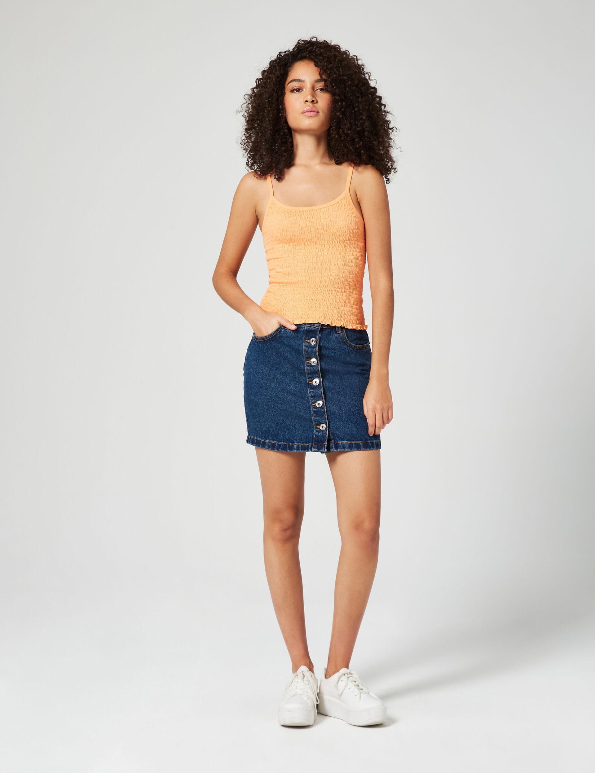 Jupe en jean boutonnée