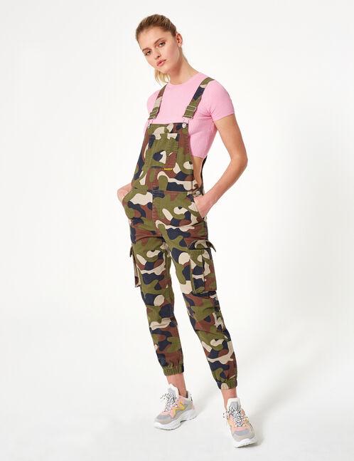 salopette camouflage kaki