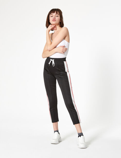 jogging slim noir