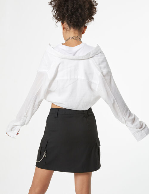 Cargo skirt with chain detail