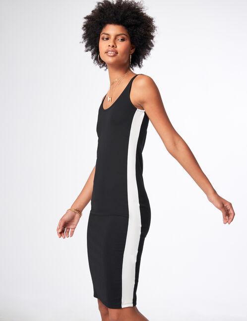 Black tube dress with trim detail
