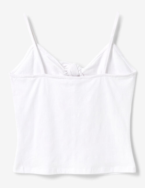 White camisole with tie detail