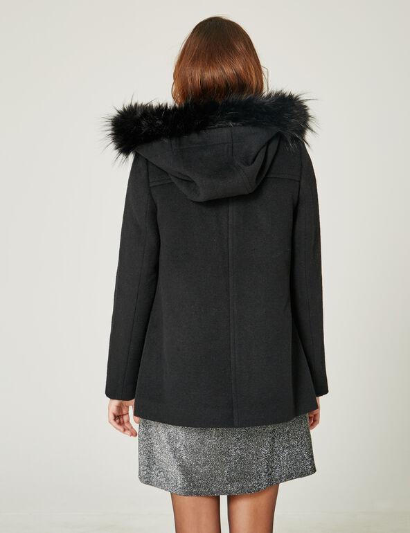 manteau avec brides noir