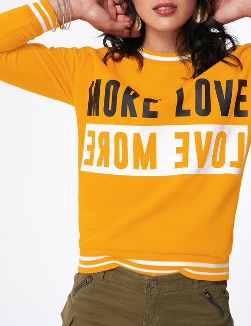 sweat more love ocre