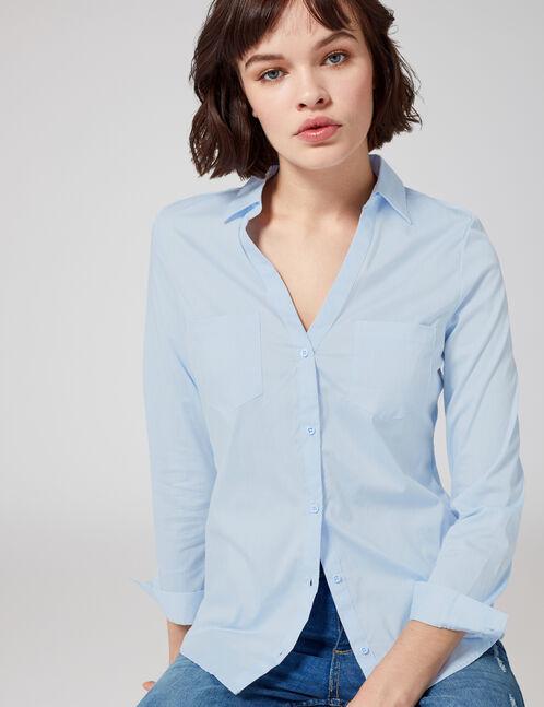 chemise basic bleu clair