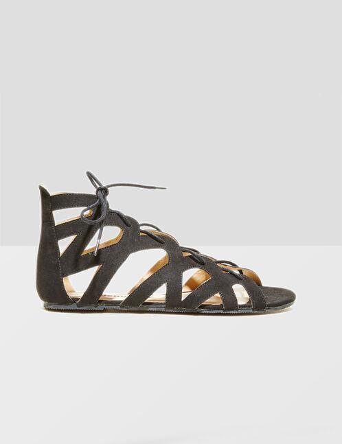 sandales spartiates noires
