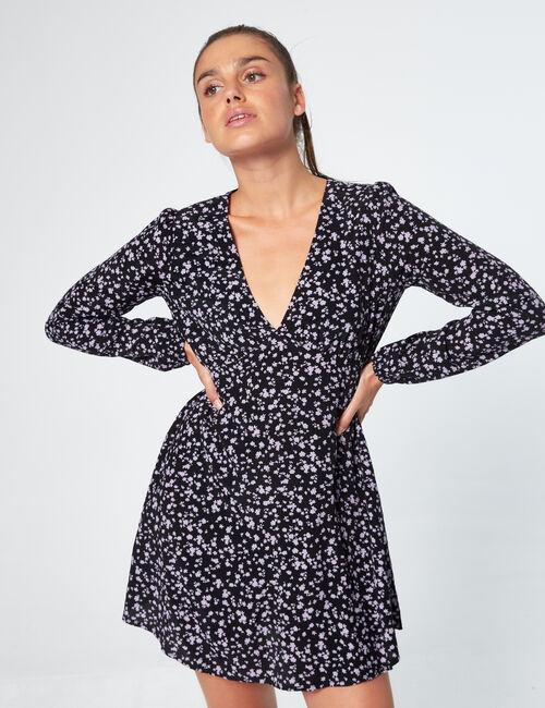 Robe trapèze imprimée