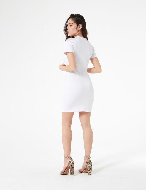robe ajustée avec ouverture