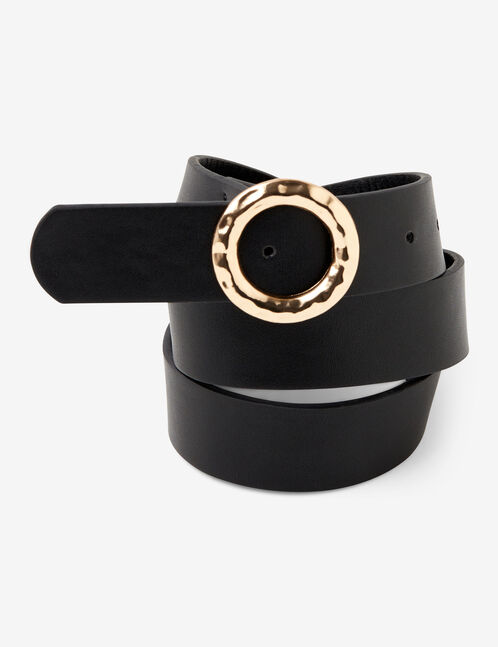 faux leather belt with buckle