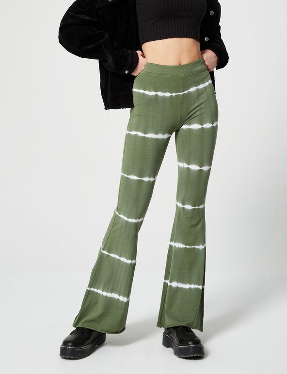 Pantalon flare imprimé