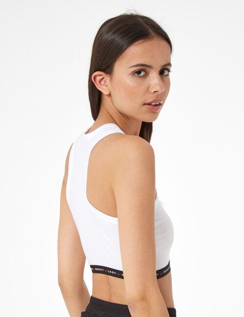 elasticated sports bra