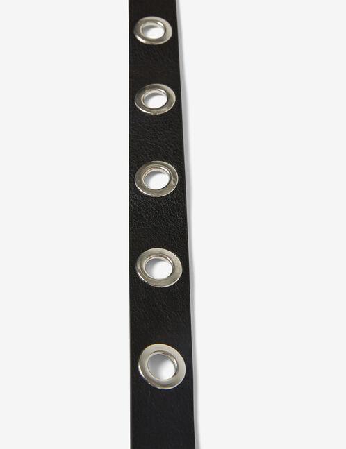 Black belt with eyelet detail