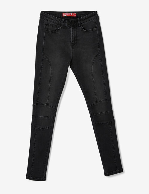 Black jeans with seam detail