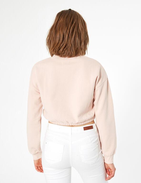 Heart catcher short sweatshirt