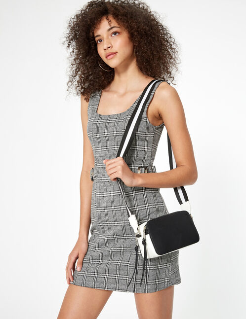 Black and white two-tone bag