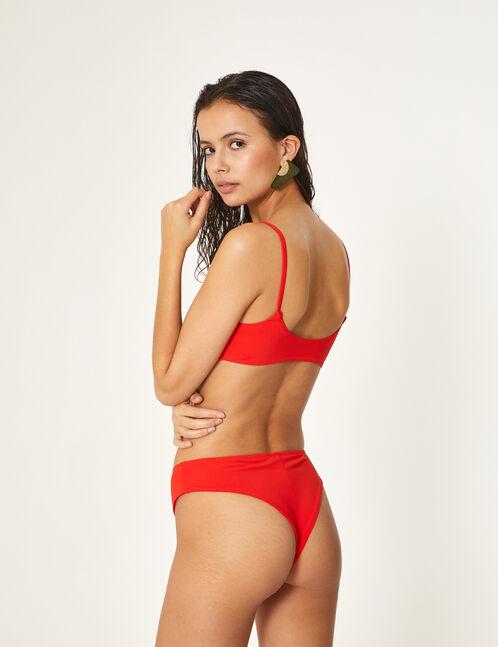 maillot de bain 2 pièces rouge